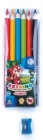 Astra Coloured pencils Astrino triangular Jumbo 6 colors with sharpener