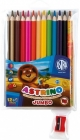 Astra Coloured pencils Astrino triangular Jumbo 12 + 1 color free with sharpener