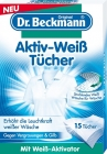 Dr. Beckmann wischt Bleaching aktiv weißen Stoffen