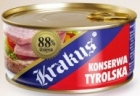 Krakus en conserve tyrolien 88% de viande de porc