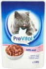 PreVital Complete food for adult cats with veal