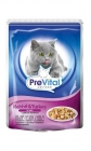 PreVital Complete food for adult cats with rabbit in jelly
