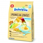 BoboVita serving of cereal porridge milk 3 fruits corn-rice