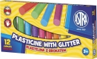 Astra Plasticine 12 colors with glitter
