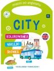 """Interdruk colorear manejar la ciudad en Inglés, imágenes """"City"""" de color, las palabras se reúnen"""