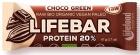 Lifefood Barra de chocolate con proteína de arroz y espirulina RAW sin gluten BIO