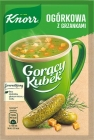 Hot Mug Knorr poudre de soupe soupe de concombre avec des croûtons