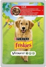 Friskies Adult Alleinfuttermittel für ausgewachsene Hunde Sachet mit Rindfleisch und Kartoffeln in der Soße