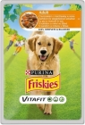 Friskies Adult Alleinfuttermittel für ausgewachsene Hunde Sachet mit Huhn und Karotten-Sauce