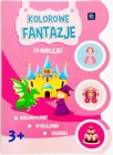 """Interdruk coloring book with stickers """"colored fantasies"""""""