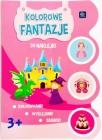 """libro para colorear con pegatinas Interdruk """"fantasías de colores"""""""
