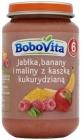 BoboVita яблоки бананы и малина с кукурузной мукой