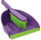 York Prestige Brush with rubber dustpan