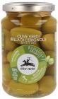Aceitunas Verdes Alce Nero Bella Di Cerignola con hueso en adobo BIO