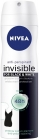 Antiperspirant Nivea Invisible Fresh spray against a white traces