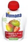 Humana 100% mousse de manzana orgánica-pera-fresa