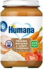 Humana 100% organic vegetable dinner with rice and turkey