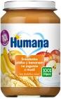 Humana desayuno '100% de manzana orgánico con un yogur de plátano con muesli