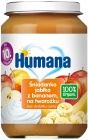 Humana 100% Organic apple breakfast with banana on cottage cheese