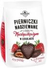Copérnico Pierniczki rellena con sabor a fresa en el chocolate