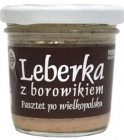 Traditional Leberkese with boletus