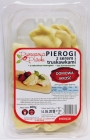 Pierogarnia Piands Dumplings with cheese and strawberries. Manual product