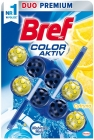 Bref Color Aktiv Washing and fragrance pendant for toilet. Lemon