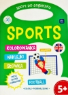 "Interdruk Coloring book with handle sport in English ""Sports"" Color, get to know the words"