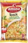 Caldo de sopa instantánea con italiano y perejil