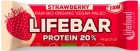Lifefood Strawberry Protein Bar with BIO rice protein