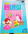 Libro de colorear Interdruk A4 con pegatinas de Lena y mascotas