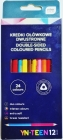Interdruk Two-sided pencil crayons 12 pieces / 24 colors
