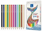Tetis Jumbo pencil pencils triangular 12 colors tetiski
