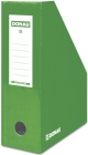 Donau Container for documents, cardboard, A4 / 100mm, painted, green