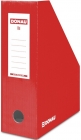 Donau Container for documents, cardboard, A4 / 100mm, painted, red
