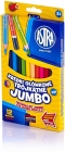 Astra 12 Jumbo triangular pencil pencils with sharpener