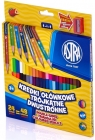 Astra Pencil crayons double-sided triangular 24 pieces / 48 colors with sharpener