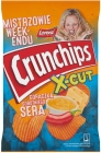 Crunchips X-Cut Potato chips cut thickly with the taste of a spicy cheese sauce