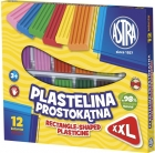 Astra Plastilina rectangular 12 colores.