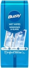 Buzzy Wet wipes for cleaning glass and glass surfaces