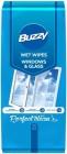 Buzzy Wet Tücher zur Reinigung von Glas und Glasoberflächen