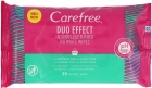 Carefree Intimate hygiene wipes with Aloe Duo Effect