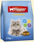 Flipper Complete dry food for adult cats of all breeds with poultry