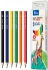 Tetis Jumbo triangular pencil crayons 6 colors tetiski