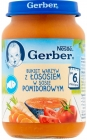Gerber. A bouquet of vegetables with salmon in tomato sauce