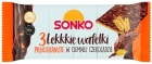 Sonko Light wholemeal wafers in dark chocolate