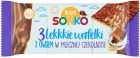 Sonko Light wafers with oat in milk chocolate