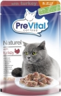 PreVital complete food for adult cats with turkey in goulash
