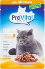 PreVital complete food for adult cats with chicken sauce