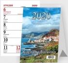 Beskids Calendario de escritorio de pie espiral vertical 2020
